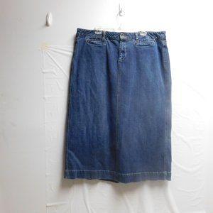 Old Navy blue jean skirt size 18 long length
